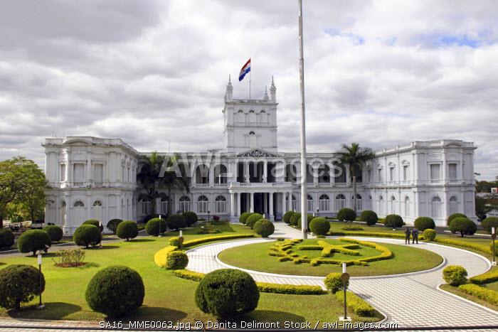 Palacio de los Lopez: House of Senate.Asuncion is the capital of Paraguay.