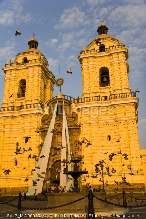 Lima, Peru. Outside the San Francisco Church and Convent in central Lima.