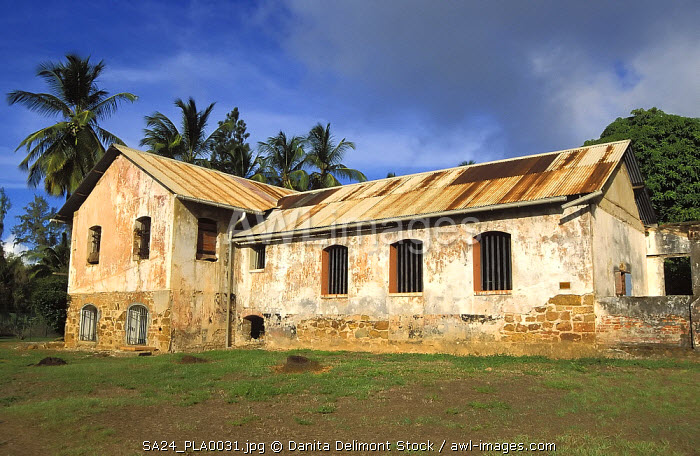 Prison block on Ile Royale, French penal colony on Devil's Island, French Guiana