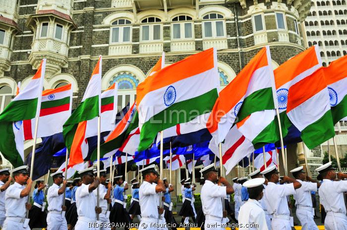 Military band in Mumbai (Bombay), India