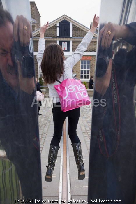 awl-images.com - England / England, London, Greenwich, Royal Observatory, Greenwich Meridian Line