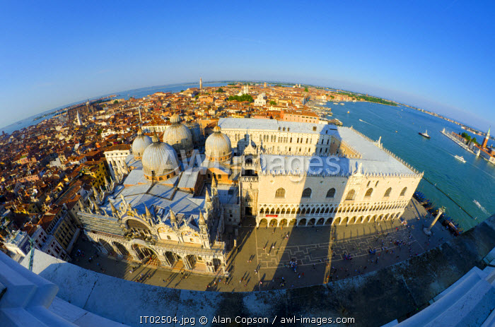 awl-images.com - Italy / Italy, Veneto, Venice, Doges' Palace from the Campanile