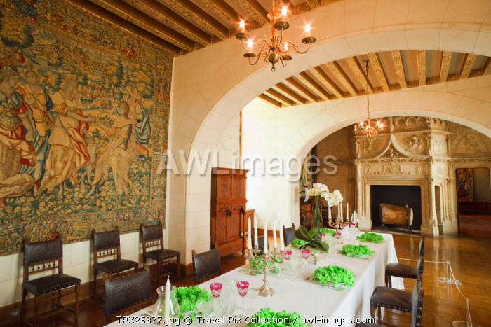awl-images.com - France / France, Loire Valley, Chaumont Castle, The Dining Room