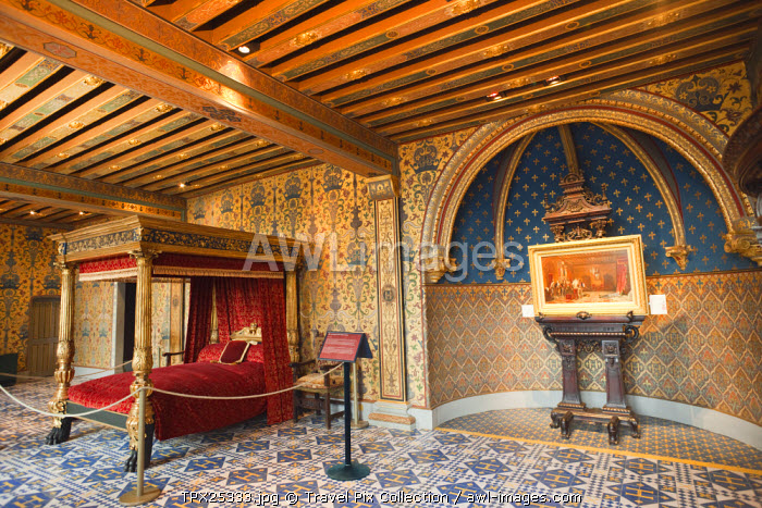 awl-images.com - France / France, Loire Valley, Blois Castle, Henry III Bedchamber