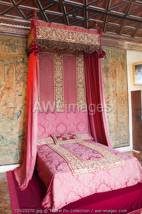 awl-images.com - France / France, Loire Valley, Chenonceau Castle, The Five Queens' Bedroom