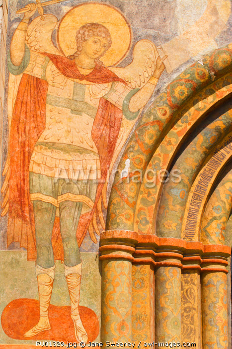 awl-images.com - Russia / Russia, Moscow, The Kremlin, Cathedral Square, Fresco on Cathedral of the Annunciation