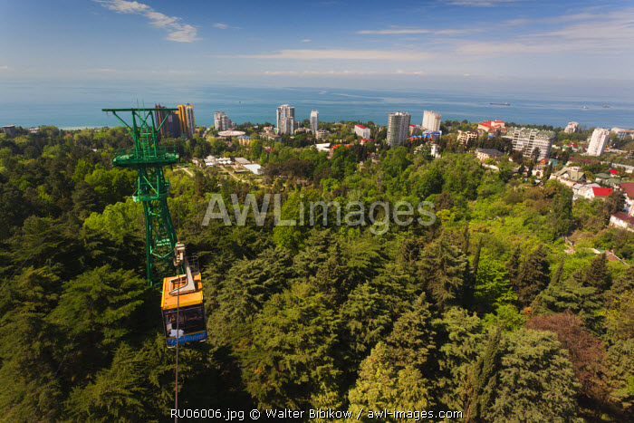 awl-images.com - Russia / Russia, Black Sea Coast, Sochi, elevated city view from the Arboretum Park cable car