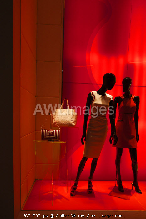 awl-images.com - USA / USA, Nevada, Las Vegas, CityCenter, Crystals Luxury Mall, Versace shop, store window