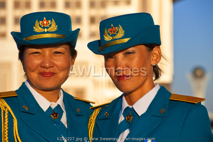 awl-images.com - Kazakhstan / Kazakhstan, Astana, 2 Women security officials