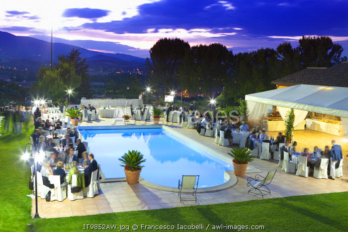 awl-images.com - Italy / Italy, Umbria, italian wedding banquet.