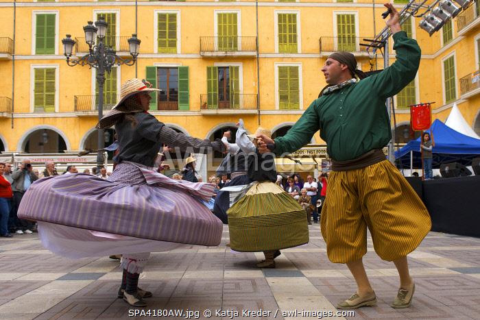 Traditional dances in Palma de Mallorca, Majorca, Balearic Islands, Spain
