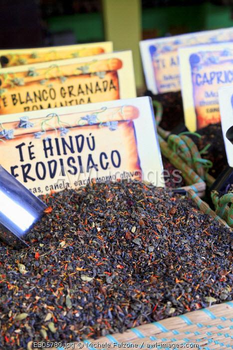 Spain, Andalucia, Granada, Tea for sale