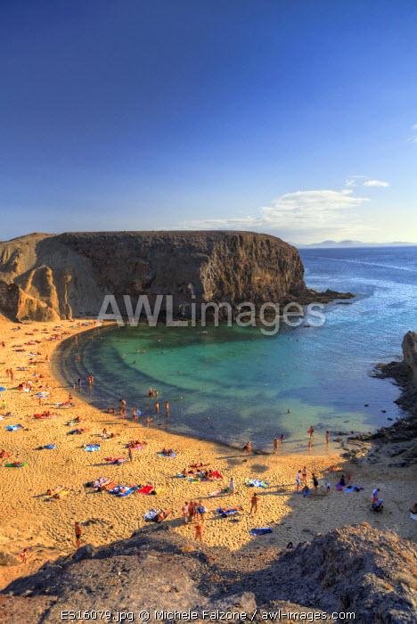 Spain, Canary Islands, Lanzarote, Punta del Papagayo, Papagayo beach