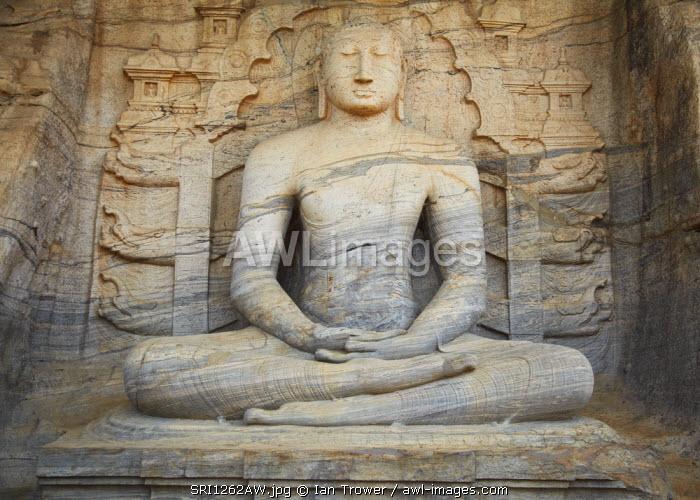 Seated Buddha, Gal Vihara, Polonnaruwa (UNESCO World Heritage Site), North Central Province, Sri Lanka
