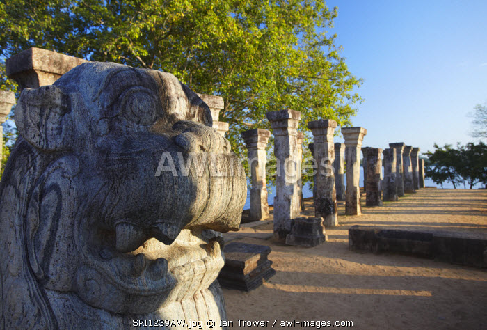 Audience Chamber, Island Gardens, Polonnaruwa, (UNESCO World Heritage Site), North Central Province, Sri Lanka