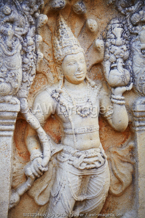 Guardstone at Ratna Prasada, Northern Ruins, Anuradhapura, (UNESCO World Heritage Site), North Central Province, Sri Lanka