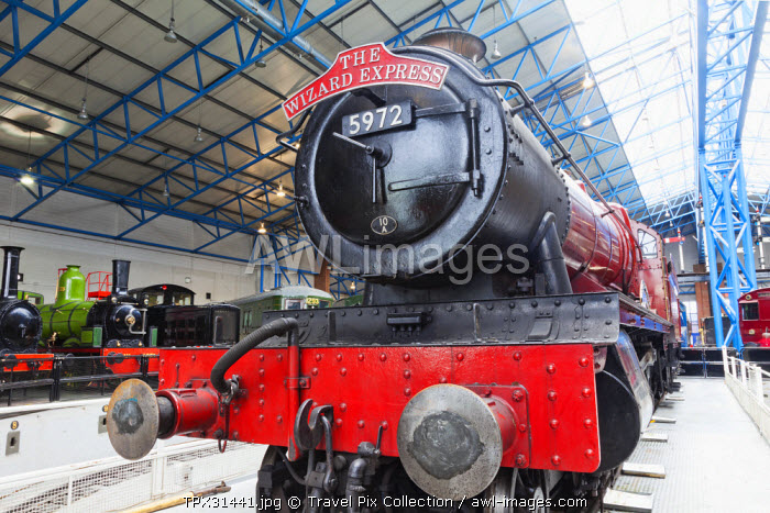 England, Yorkshire, York, The National Railway Museum, The Wizard Express Steam Locomotive
