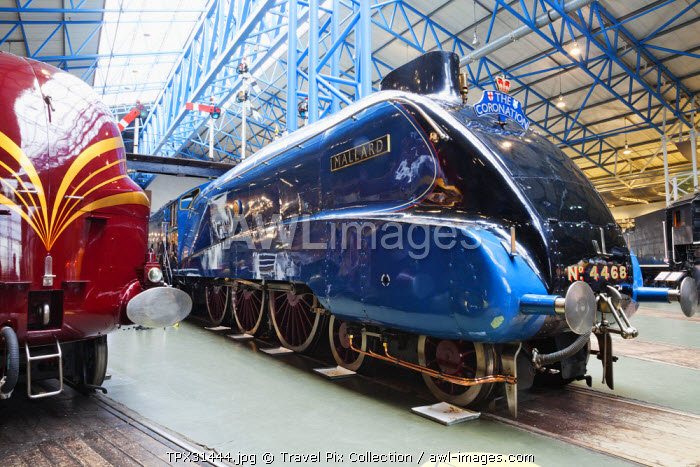 England, Yorkshire, York, The National Railway Museum, The Mallard Steam Locomotive