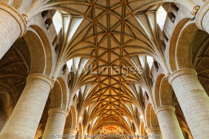 England, Gloucestershire, Tewkesbury, Tewkesbury Abbey, The Nave