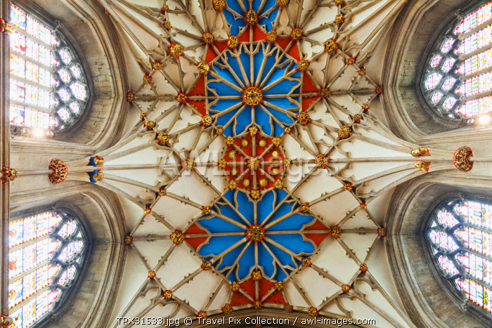 England, Gloucestershire, Tewkesbury, Tewkesbury Abbey, The Quire Ceiling Vaulting