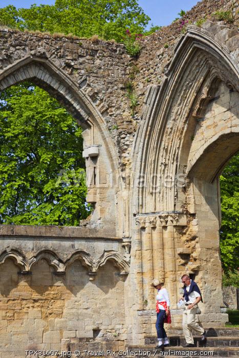 England, Somerset, Glastonbury, Glastonbury Abbey, The Lady Chapel