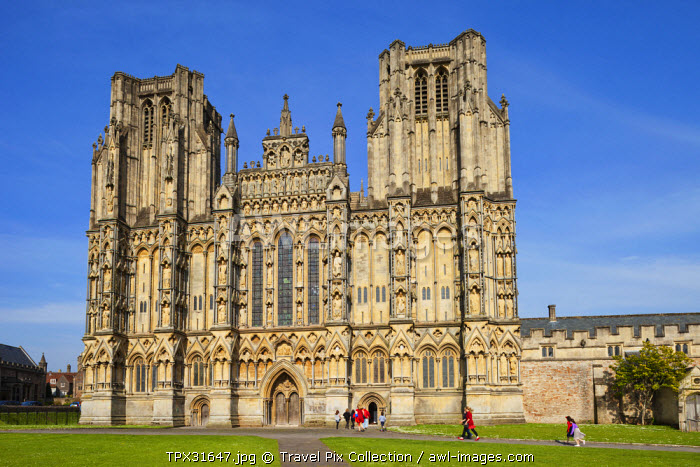 England, Somerset, Wells, Wells Cathedral