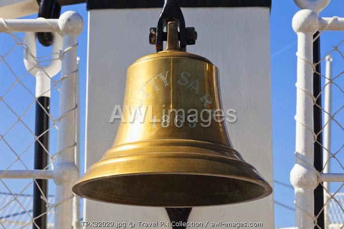 England, London, Greenwich, Cutty Sark, Ship's Bell