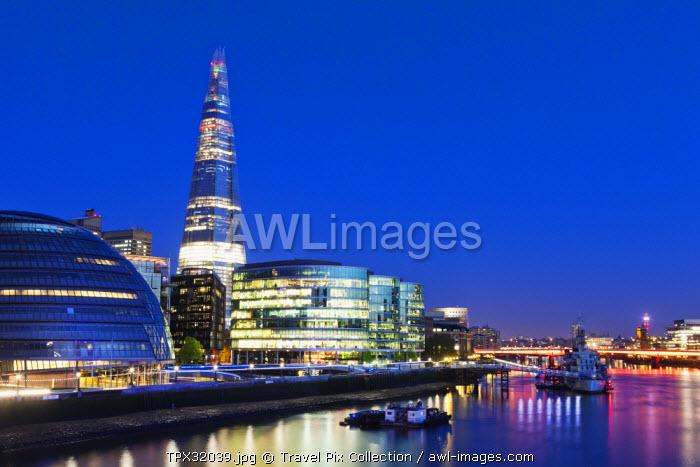 England, London, Southwark, The Shard and More London Develpment
