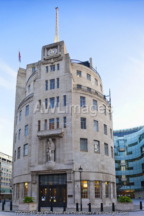 England, London, Langham Place, BBC Broadcasting House
