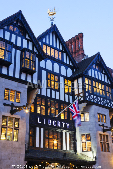 England, London, Liberty Department Store