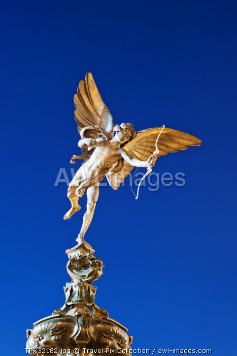 England, London, Soho, Piccadilly Circus, Eros Statue