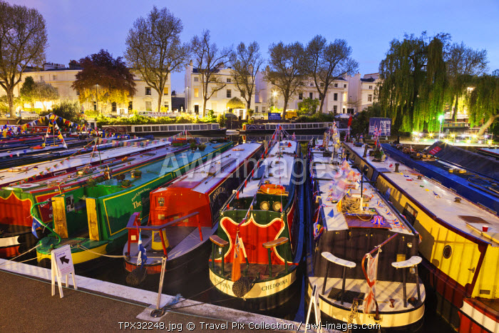 England, London, Little Venice, Canal Boats