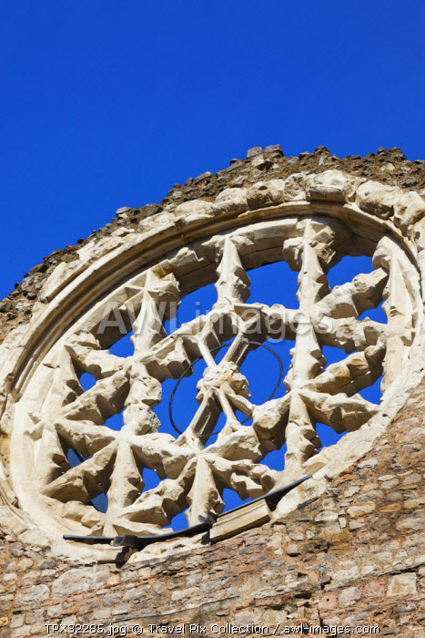 England, London, Southwark, Winchester Palace, The Medieval Rose Window