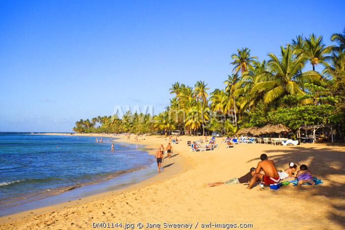 Dominican Republic, Samana Peninsula, Beach at Las Terrenas