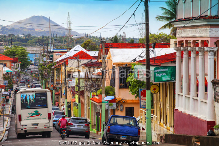 Dominican Republic, Puerto Plata, Street scene