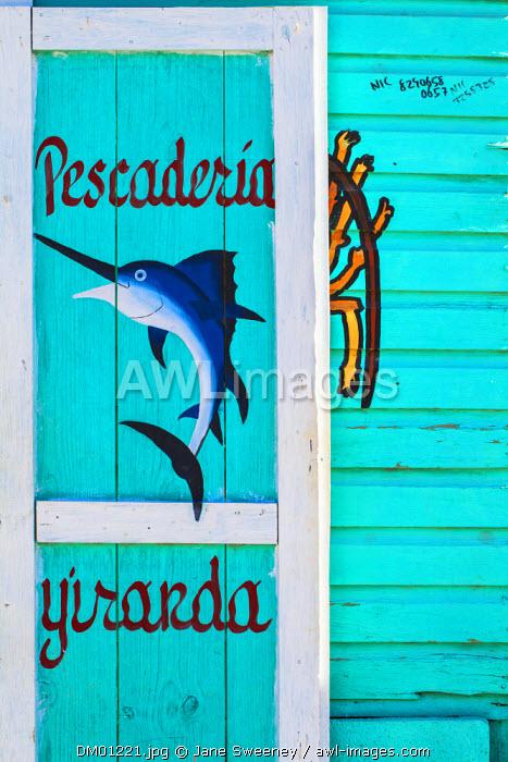 Dominican Republic, Rio San Juan, Fish shop