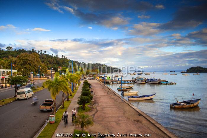 Dominican Republic, Eastern Peninsula De Samana, Samana, View of Malecon and harbour