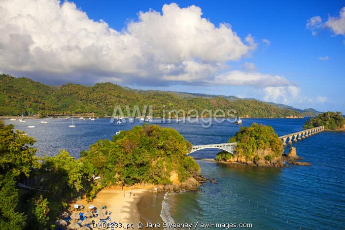Dominican Republic, Eastern Peninsula De Samana, Semana, View of Playa Cayacoa - the beach below Gran Bahia Principe Cayacoa Hotel