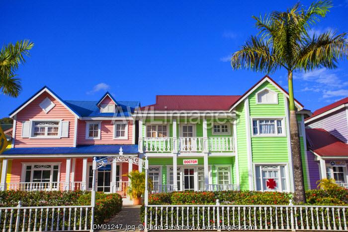 Dominican Republic, Eastern Peninsula De Samana, Samana, Malecon, Plaza Pueblo Principe shopping plaza