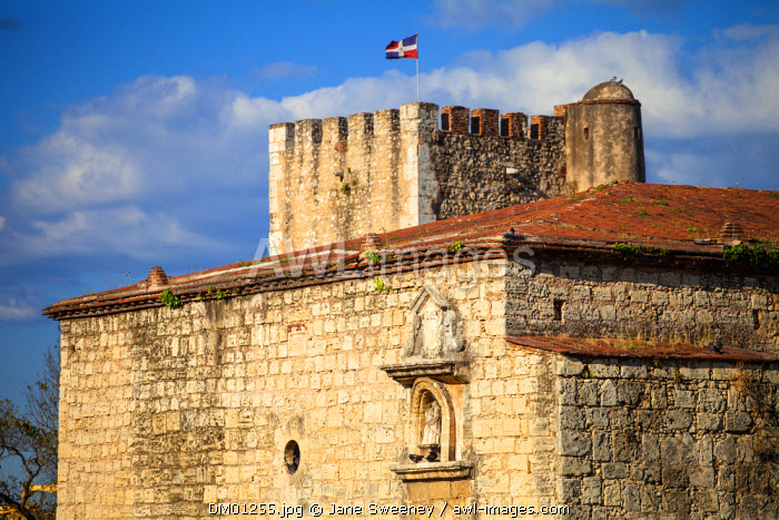 Dominican Republic, Santa Domingo, Colonial zone, Fortaleza Ozama, now the site of the Museo de Armas, a military musuem, El Polvorin - The Powder House