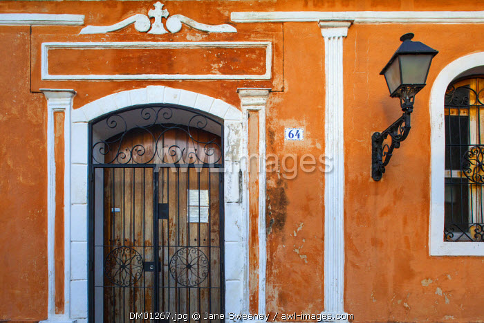 Dominican Republic, Santa Domingo, Colourful Colonial houses in the Colonial zone