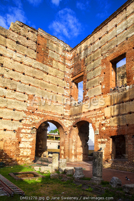 Dominican Republic, Santa Domingo, Colonial zone, Ruinas del Hospital San Nicolas de Bari, the First hospital in the New World