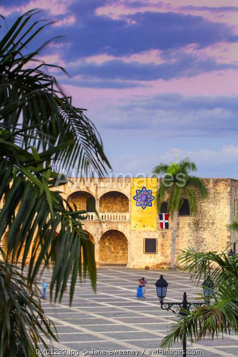 Dominican Republic, Santa Domingo, Colonial zone, Plaza Espana, Alcazar de Colon