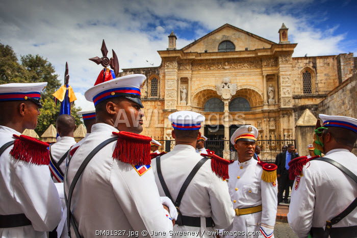 Dominican Republic, Santa Domingo, Colonial zone, Independance Day, Presidential guards,