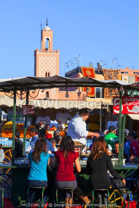 Food stall selling snails, Jamaa el Fna square, The Medina, Marrakesh, Morocco