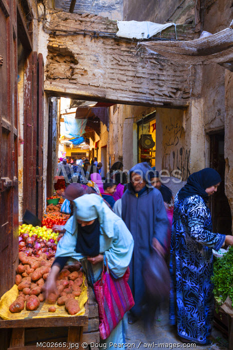 Vegetable Market, The Medina, Fes, Morocco