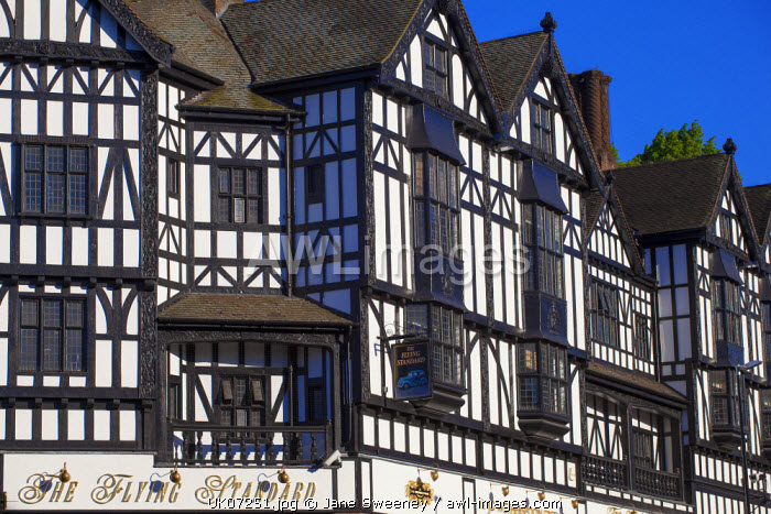 awl-images.com - England / UK, England, Birmingham, Coventry, Tudor buildings in City Center