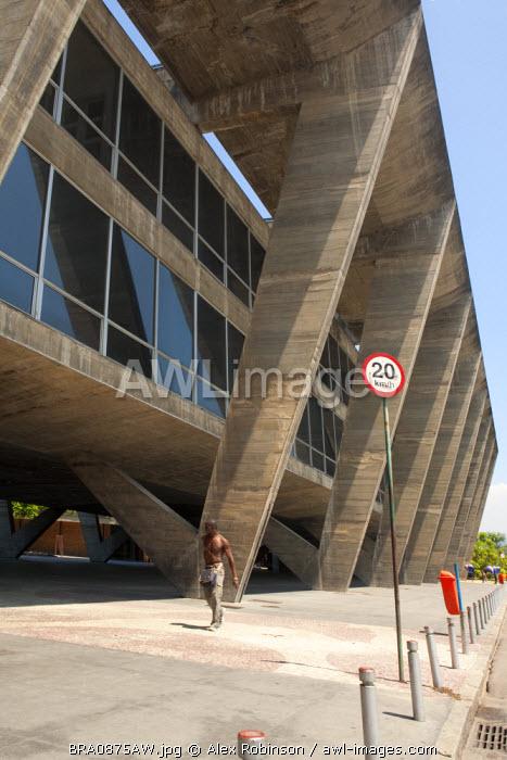 South America, Brazil, Rio de Janeiro state, Rio de Janeiro city, the exterior of the Modern Art Museum (Museu de Arte Moderna)