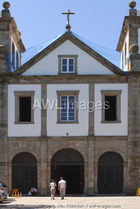 South America, Brazil, Rio de Janeiro state, Rio de Janeiro city, the entrance to the Benedictine Mosteiro Sao Bento church in the old colonial centre of Rio