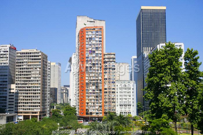 Brazil, Rio de Janeiro State, Rio de Janeiro city, the Largo da Carioca square in Rio de Janeiro city centre